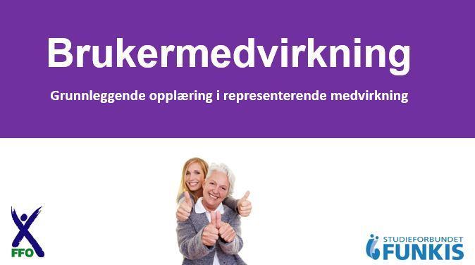 Yngre kvinne står bak eldre kvinne. Begge viser tommel opp. Funkis og FFO sine logoer er med i bildet.